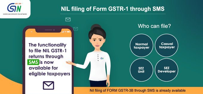Big Relief For These GST Small Taxpayers Holders Provided Facility OfFiling NIL Form GSTR-1 through SMS on GST Portal.